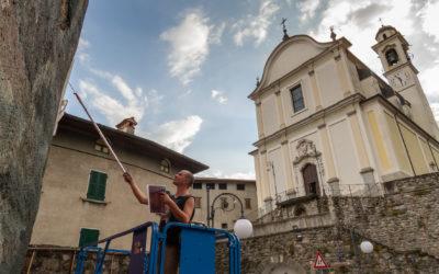 Borondo a Malegno: inaugurazione dell'opera